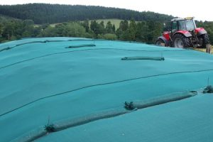Silage Pit Covered with a Secure Cover